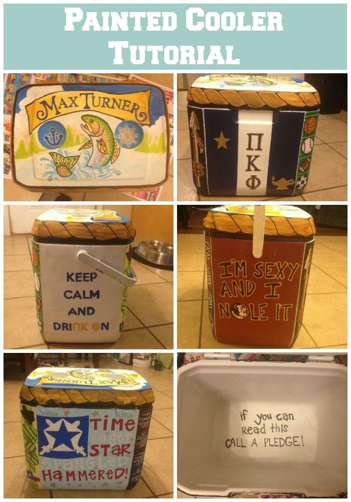 Florida State University FSU Pi Kappa Phi Painted Cooler - Painted Cooler Tutorial