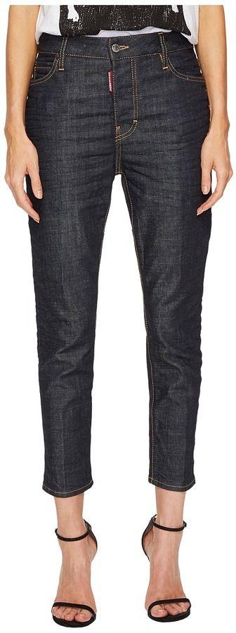 DSQUARED2 Londean Dark Wash Jeans in Blue Women's Jeans