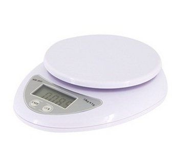 WH-B05 Electronic Digital Kitchen Scale (White) by Nana-Asian. $8.96. Capacity: 5kg with accuracy of 0.001kg. Power: 2 AAA batteries (not included).   Package Details Weight: 276.06 g  Size: 17.6*15.5*4 cm Package Includes 1 × Mini Electronic Digital Scale 1 × User Manual