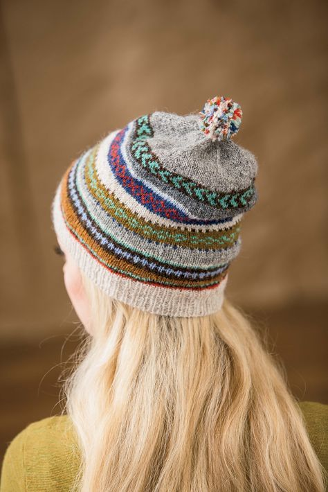Ravelry: Tilting Fair Isle Mitts and Hat pattern by Mary Gehling