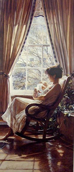"""Steve Hanks """"To Behold"""".  His paintings are so beautiful with light and lifelike details."""