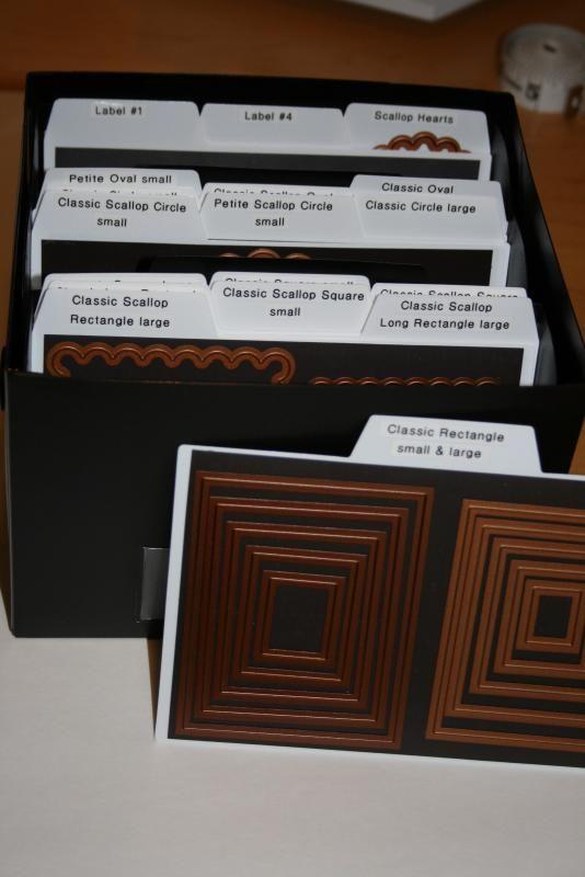 Creative Memories box. Nestabilities dies.