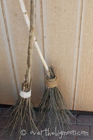 Make your own Witch Brooms out of totally free materials!