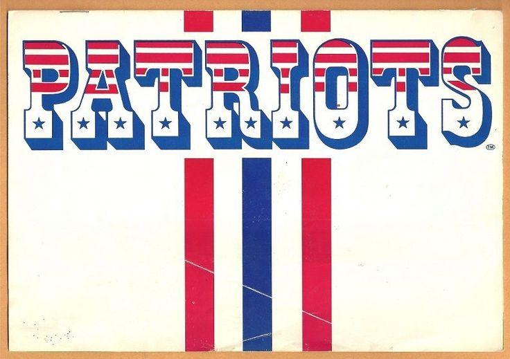 1985 new england #Patriots ticket brochure sullivan stadium envelope super bowl from $9.5