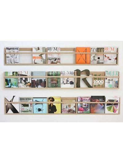 Bladenmuur van hout - 14x lectuur aan de muur