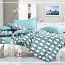 Aqua Dreamaker Printed Egyptian Cotton Quilt Cover Set