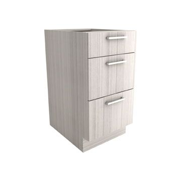 "Silhouette Collection x 3 Drawer Base Cabinet    | AVAILABLE IN: Depth: 23 1/2"" Height: 34 11/16"" 