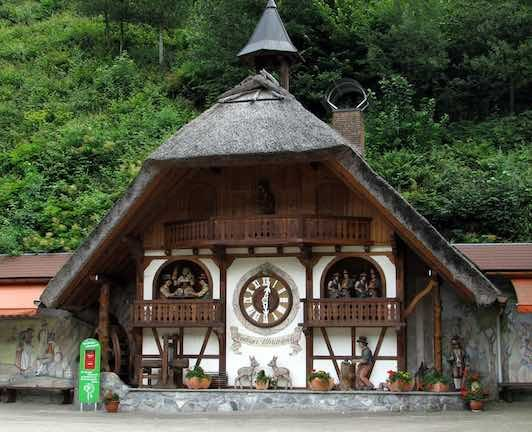 World's Largest Cuckoo Clocks are in Triberg, Black Forest, Germany.