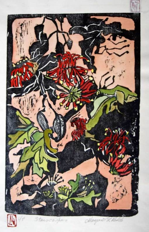 Lino cut by Margaret L. Rohde.