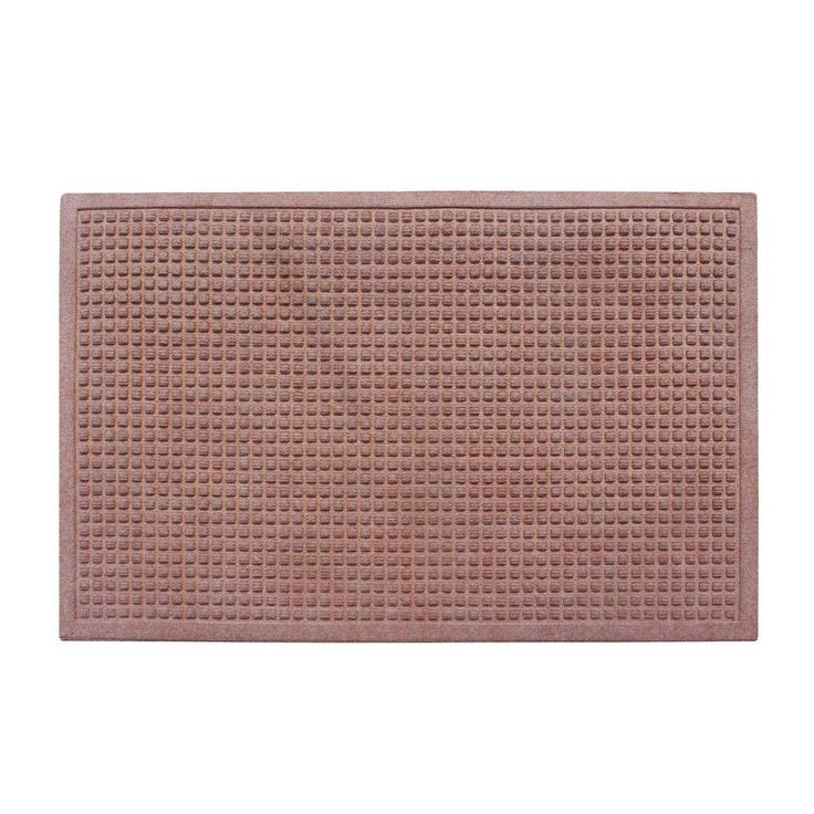 A1HC Matrix Light Brown 24 in. x 36 in.Eco-Poly Entrance Mats with Anti-Slip Fabric Finish and Tire Crumb Backing