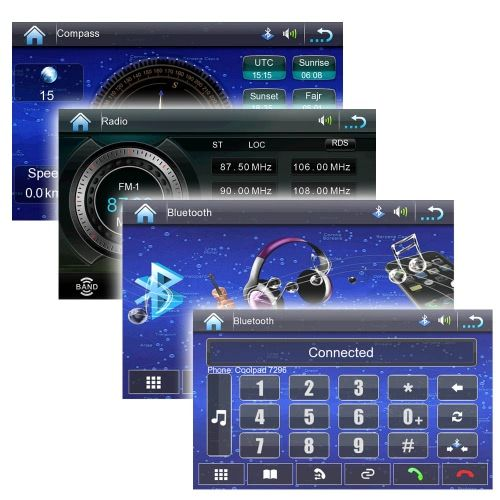 Universal 7 HD Touch Screen 2 Din Car DVD/USB/SD Player Bluetooth GPS Stereo Radio Car Entertainment System for All Cars