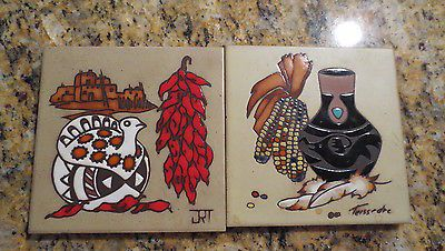 Cleo-Tessedre-Thanksgiving-Southwestern-Clay-Ceramic-Trivets