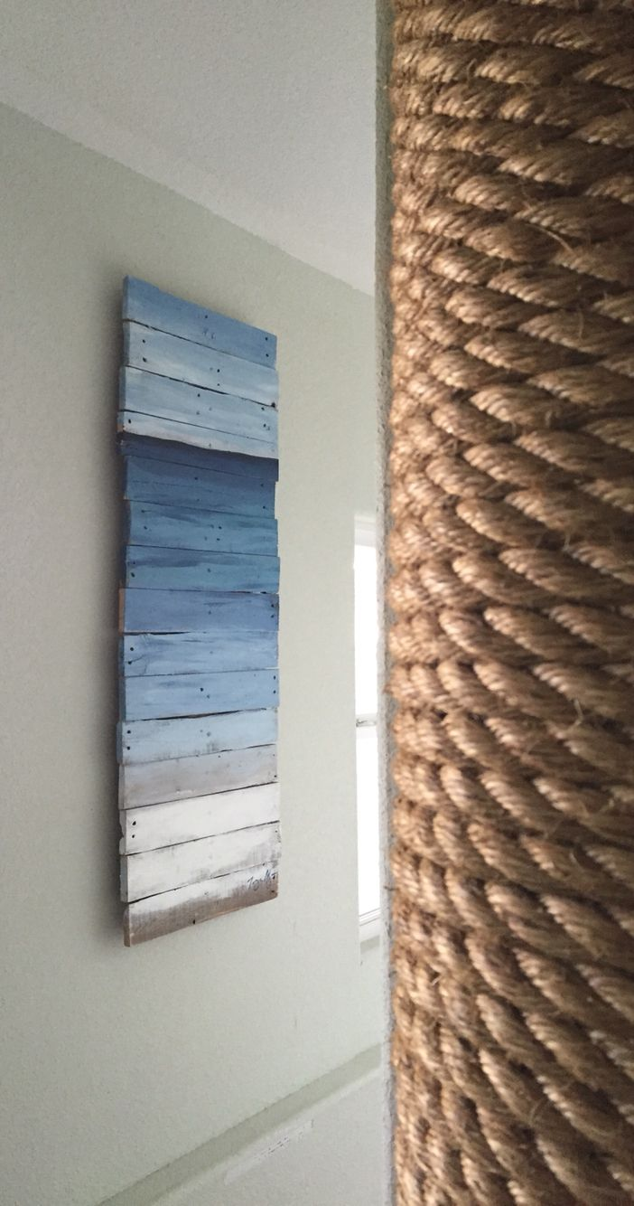 Pallet Art Made It To Cover Up An Ugly Electrical Box In My Home Built Fuse Entryway Decor And House Pinterest Basement