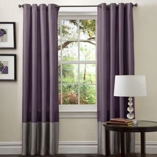 @Overstock - Perfect for any room, these Prima window panels feature a classy, simple design. Metal Grommets slides onto curtain rod for installation.   http://www.overstock.com/Home-Garden/Lush-Decor-Prima-Grey-Purple-84-inch-Curtain-Panels-Set-of-2/7356774/product.html?CID=214117 $41.49