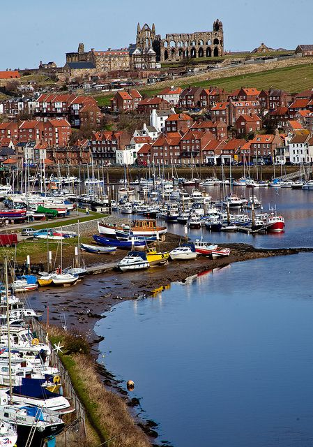 Whitby, England my friends took me here so cold with wind blowing off the north sea but wouldn't have missed it for the world
