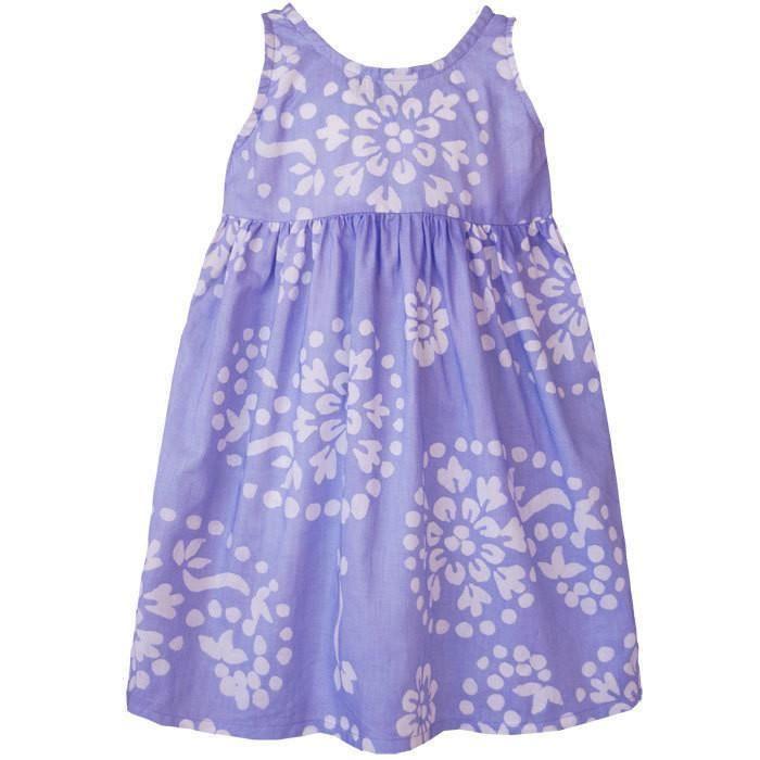 Girls Sundress - Violet Paisley - Global Mamas (C)