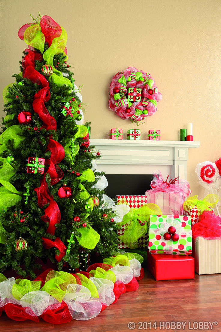 Deck the halls with Deco Mesh for an affordable but cheerful Christmas style. For more ideas, click here!