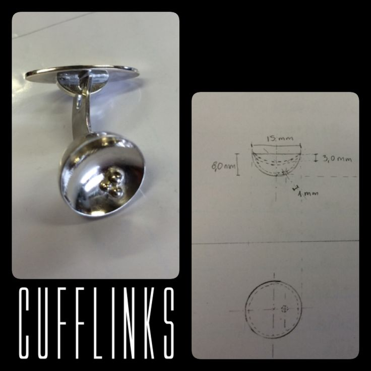 Cufflinks in silver, school project