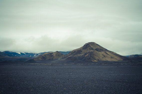 "South Iceland photography, Nordic landscape, Scandinavian art print, Mountains, Desert, Scandinavia, Poster, 12"" x 8"", 30 cm x 20 cm"
