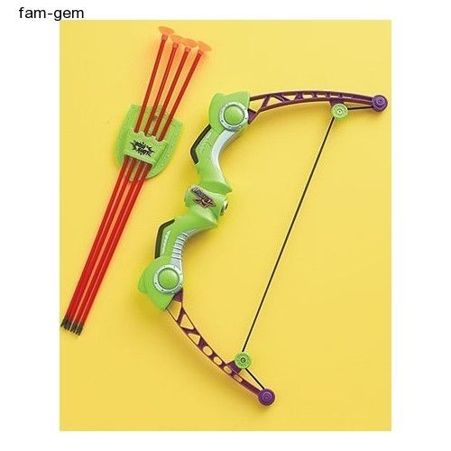 Toy Bow And Arrow Kids Archery Set Junior Children Soft Suction Cups NEW
