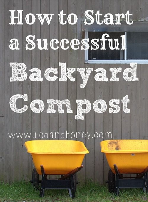 How to start a backyard compost