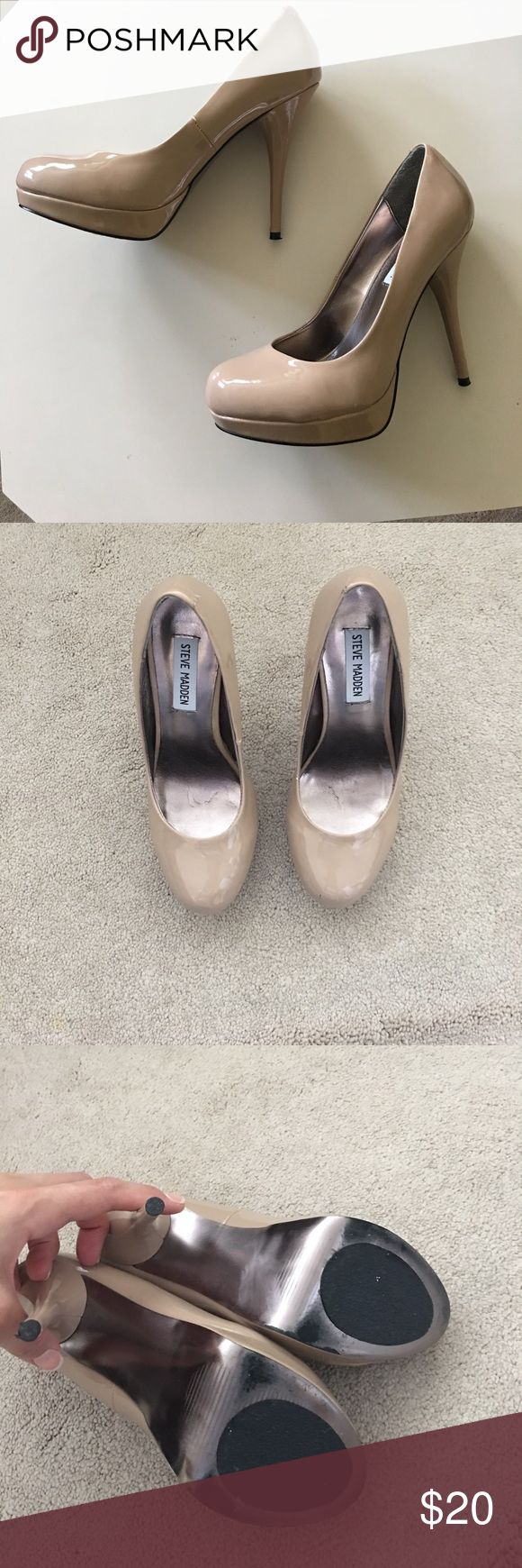 Steve Madden shoes Steve Madden nude pumps worn only a couple of times looks perfect just some minor wearing on the sole of the shoes. Steve Madden Shoes Heels