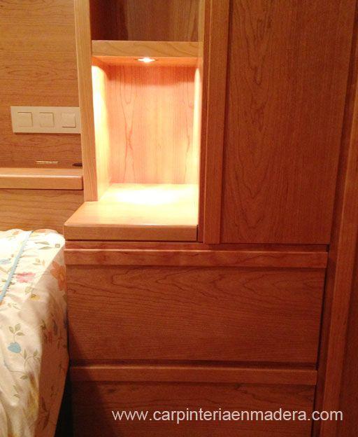 Seleccion de imágenes de muebles de dormitorio a medida, realizados por Alpis, carpinteria en madera