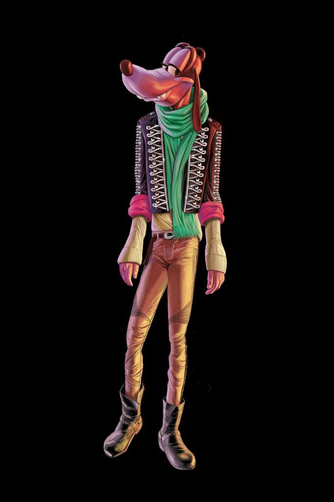 Goofy in Balmain (art by John T. Quinn for Barneys New York)