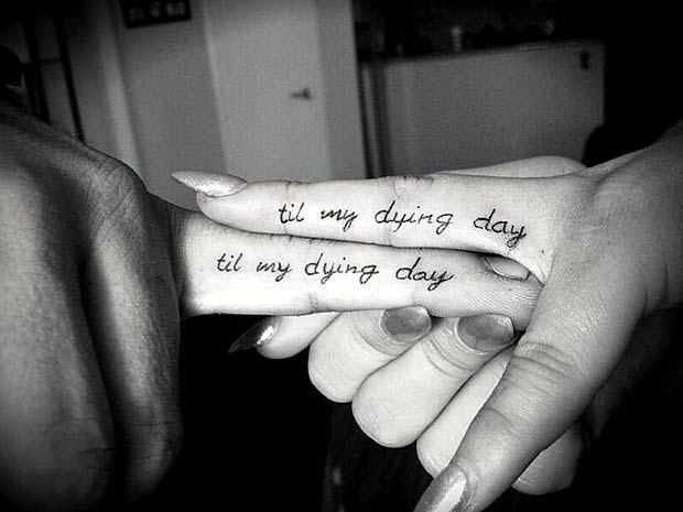 Til My Dying Day Finger Tattoos