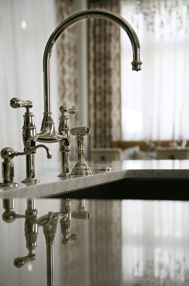 Kitchen Faucet. Kitchen Island Faucet Ideas. #KitchenFaucet #Faucet #KitchenFaucetIdeas #IslandFaucet Barbara Brown Photography. Bell Kitchen and Bath Studios.