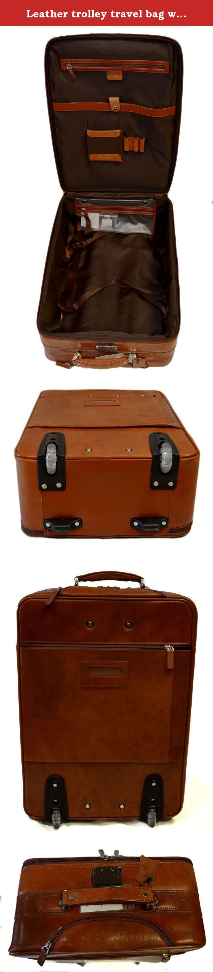 Leather trolley travel bag weekender overnight leather bag with wheels brown leather cabin luggage airplane carryon airplane bag made Italy. Our handbags are manufactured 100% in Italy, handcrafted with the highest quality materials, to create a beautiful and durable product. Genuine Italian leather and fine detailing, make this an essential product to have, as good or better than any luxury item you will find in other stores. Our motto is: Made in Florence, Italy, shipped from Florence...