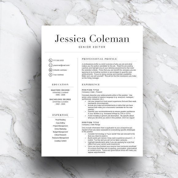 Simple resume template (3 page) by TheWriteStuffResumes on @creativemarket