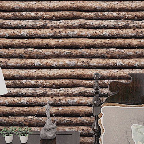 Elegant HaokHome Faux Wood Wallpaper Peel Stick Tree