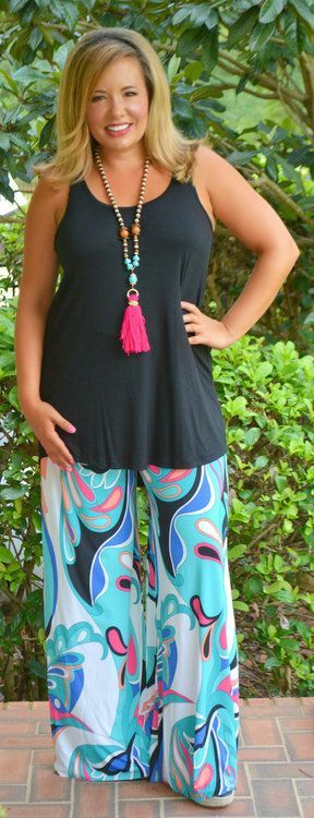 A Moment IN Time Palazzo Pants***FINAL SALE*** - Perfectly Priscilla Boutique