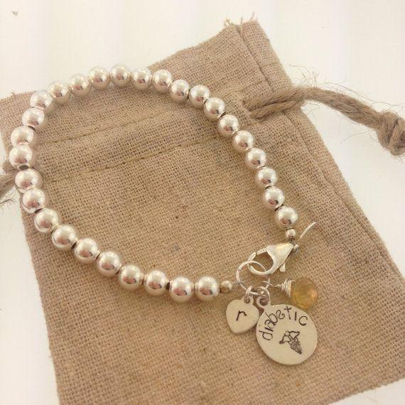 Medical bracelet diabetic bracelet cute medical by MayaBelle