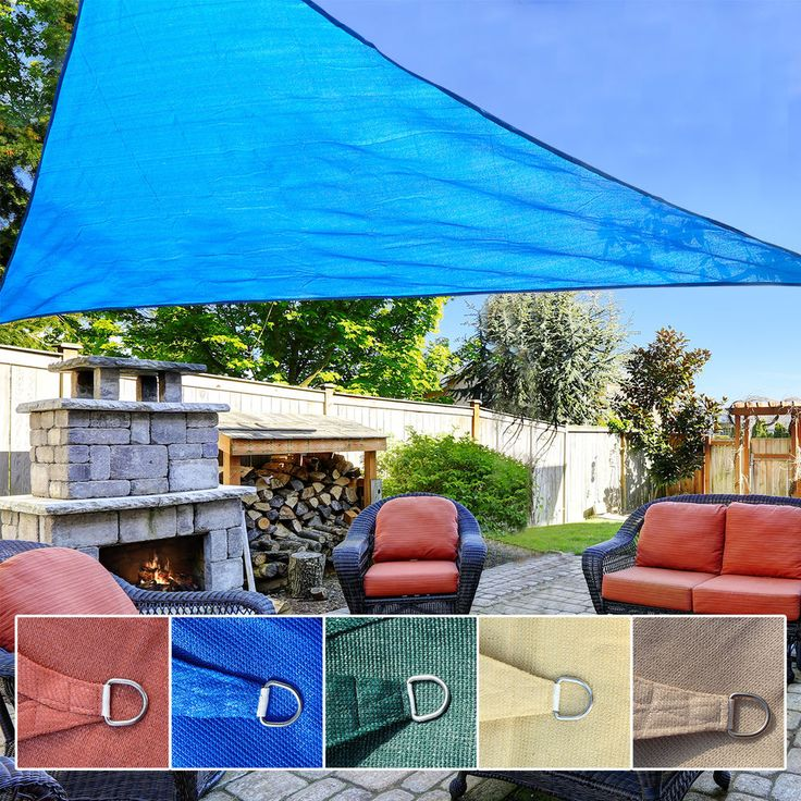 10/11.5/16.5/18FT Triangle Sun Shade Sail UV Top Outdoor Patio Pool Canopy  Cover