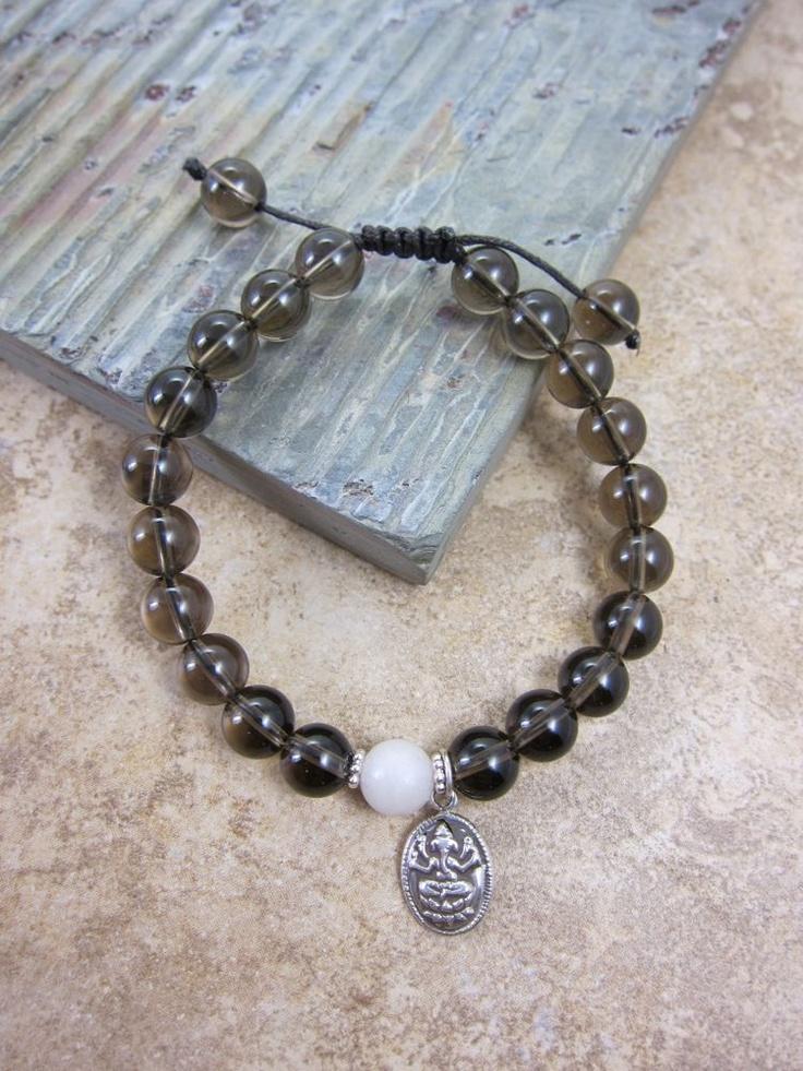 Dharmashop.com - Smoky Quartz Ganesh Wrist Mala, $35.00 (http://www.dharmashop.com/smoky-quartz-ganesh-wrist-mala/)3500, Wrist Mala, Ganesh Wrist, Buddhists Ritual, Smoky Quartz, Dharmashopcom, Mala Beads, Ganesha Symbols, Quartz Ganesh