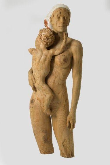 Jesús Arévalo Jiménez :: Maternidad | escultura en madera | Pinterest | Woods, Wood art and Wood carving