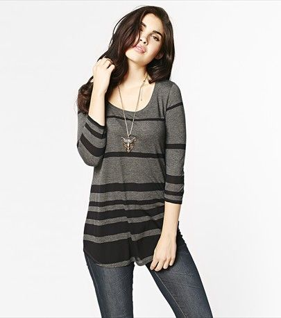 Stripe a pose in this sexy striped tunic! Pair it with legging or jeans for the perfect casual look.