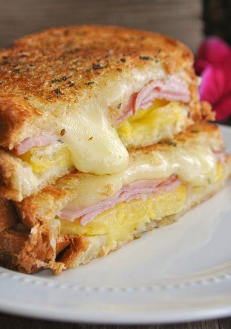 recipes for you: recipe : Hawaiian Grilled Cheese