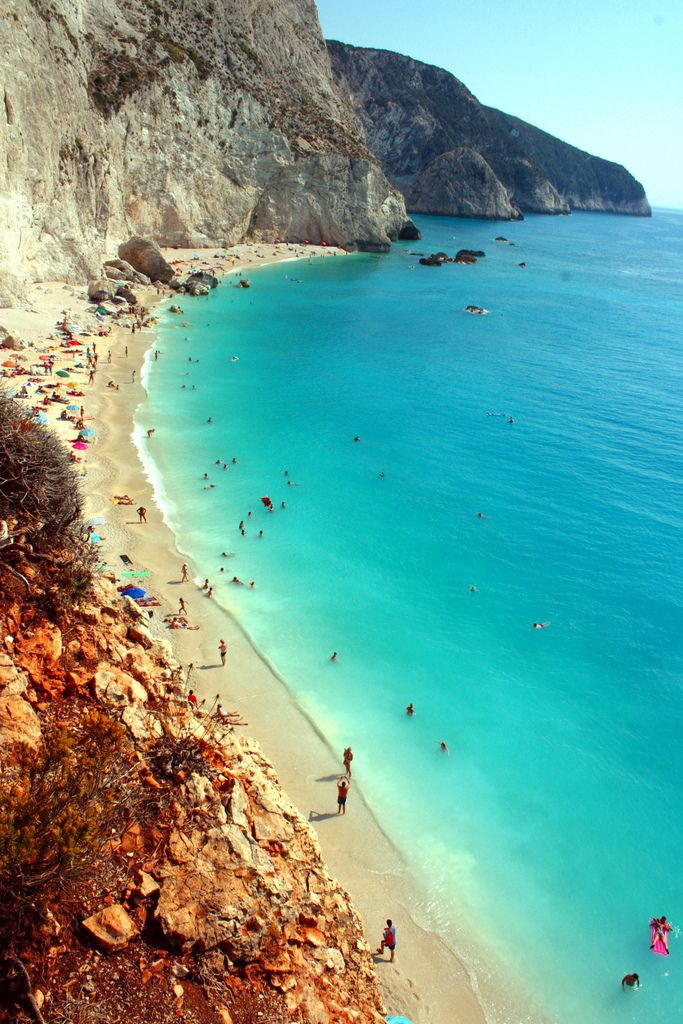 Taken at the stunning Porto Katsiki beach in Lefkada, Greece on a searing hot summer's day. I had probably the most fabulous swim of my life here!