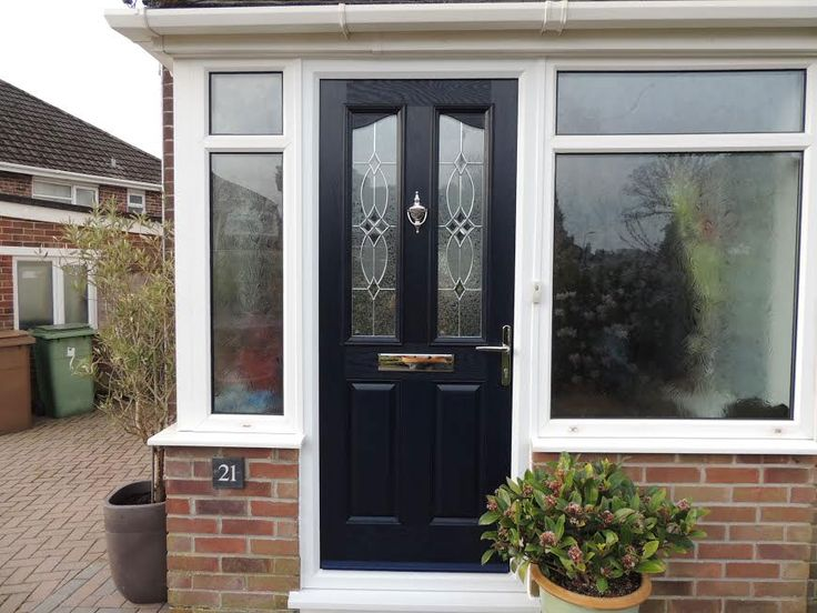 2 Panel 2 Angle Flair Composite Front Door in Black & 154 best Composite Entrance Doors images on Pinterest | Entrance ...