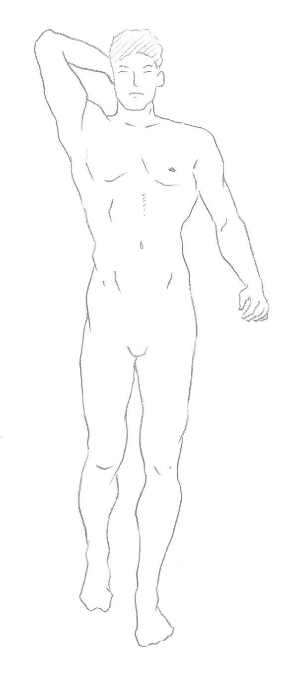 Male body fashion template by Sans Rival on deviantART