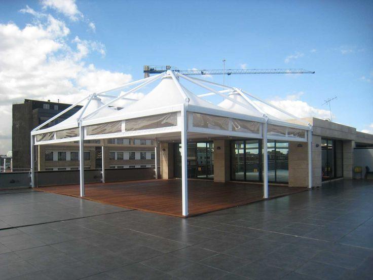 Sistema de cubierta fija, tipo membrana   cortinas enrollables y ...