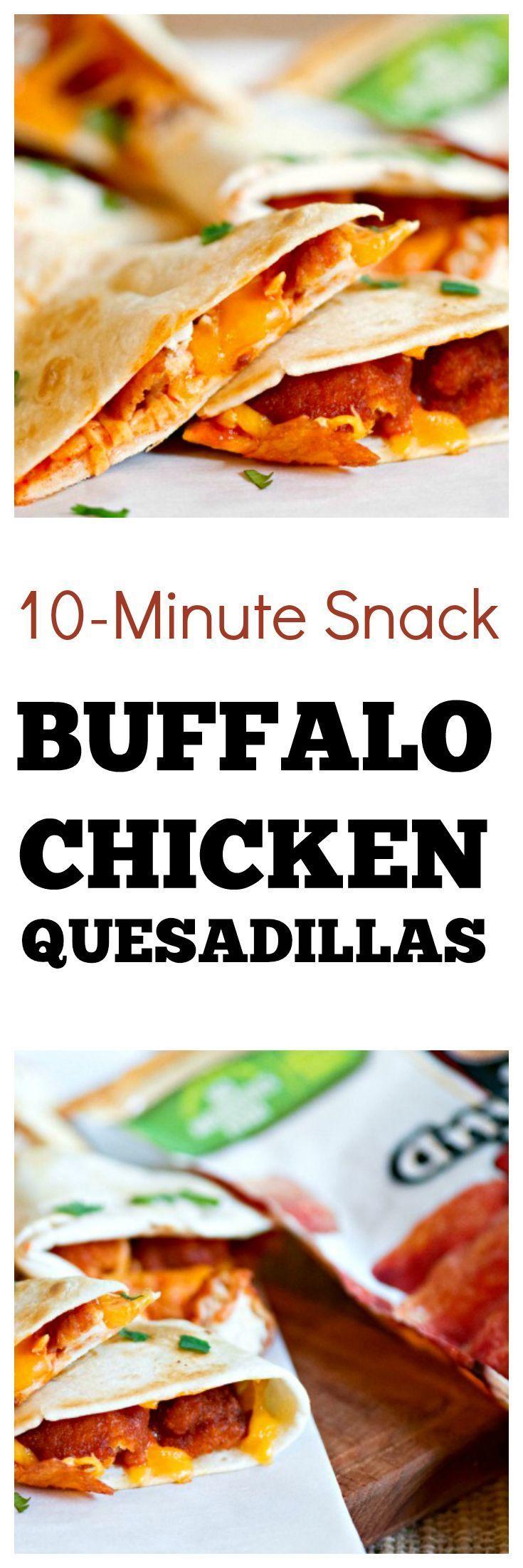 Buffalo Chicken Quesadilla Recipe   Easy snack recipe #ad #snackideas #cheesy