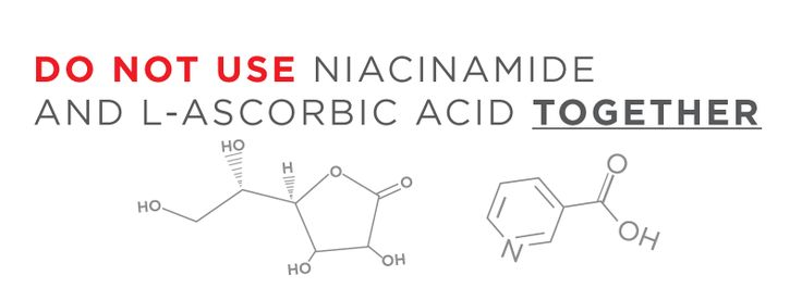 Niacinamide and L-ascorbic acid should never be used together, because they can form a pro-oxidant, hydrogen peroxide. John Su discusses.