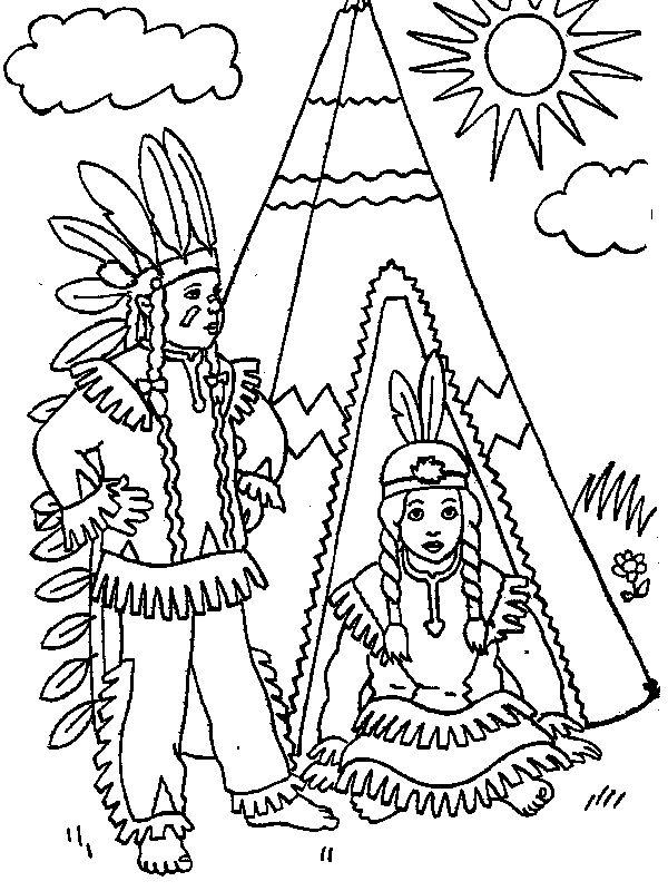 ausmalbilder indianer  ausmalbilder indianer kinderfarben