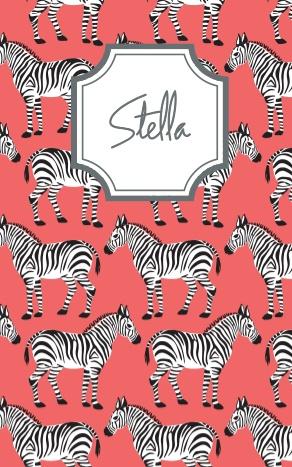 Adorable custom zebra notebook!