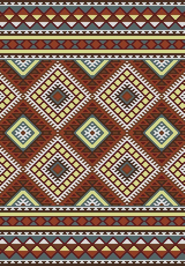 Mejores 50 im genes de punto de cruz patrones alfombras en - Lanas y punto ...