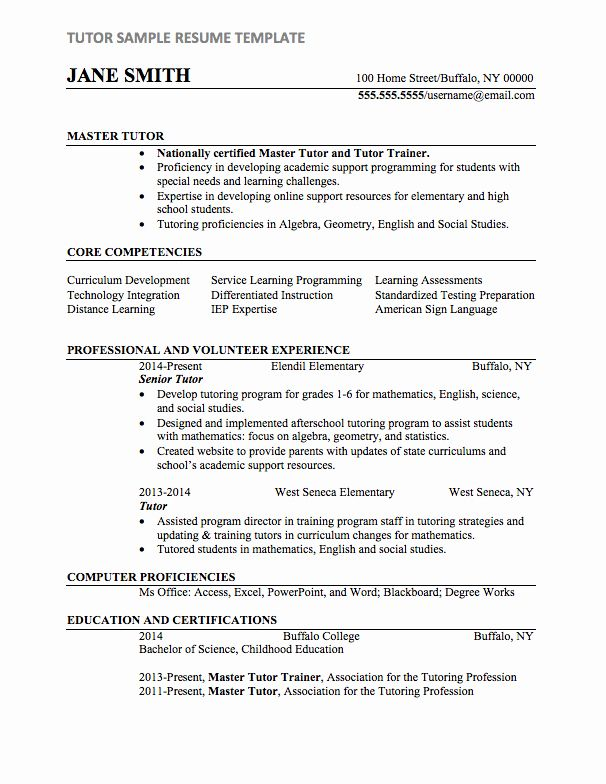 Tutor Job Description Resume Awesome Tutor Resume Sample Teacher Resume Template Sample Resume Templates Tutor